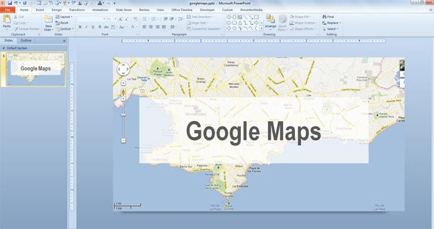 How to Add Google Maps to PowerPoint - Embed Google Map
