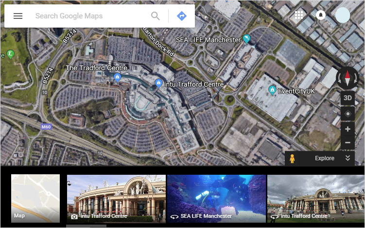 google earth view of my location